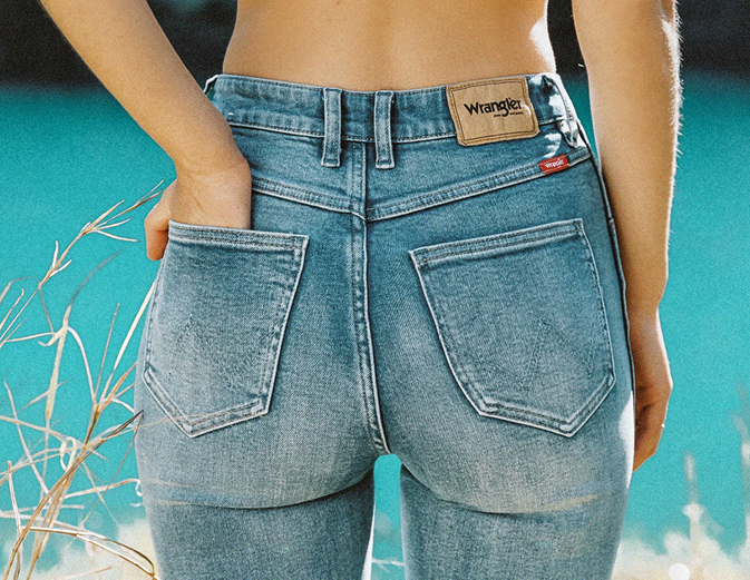 womens denim wrangler