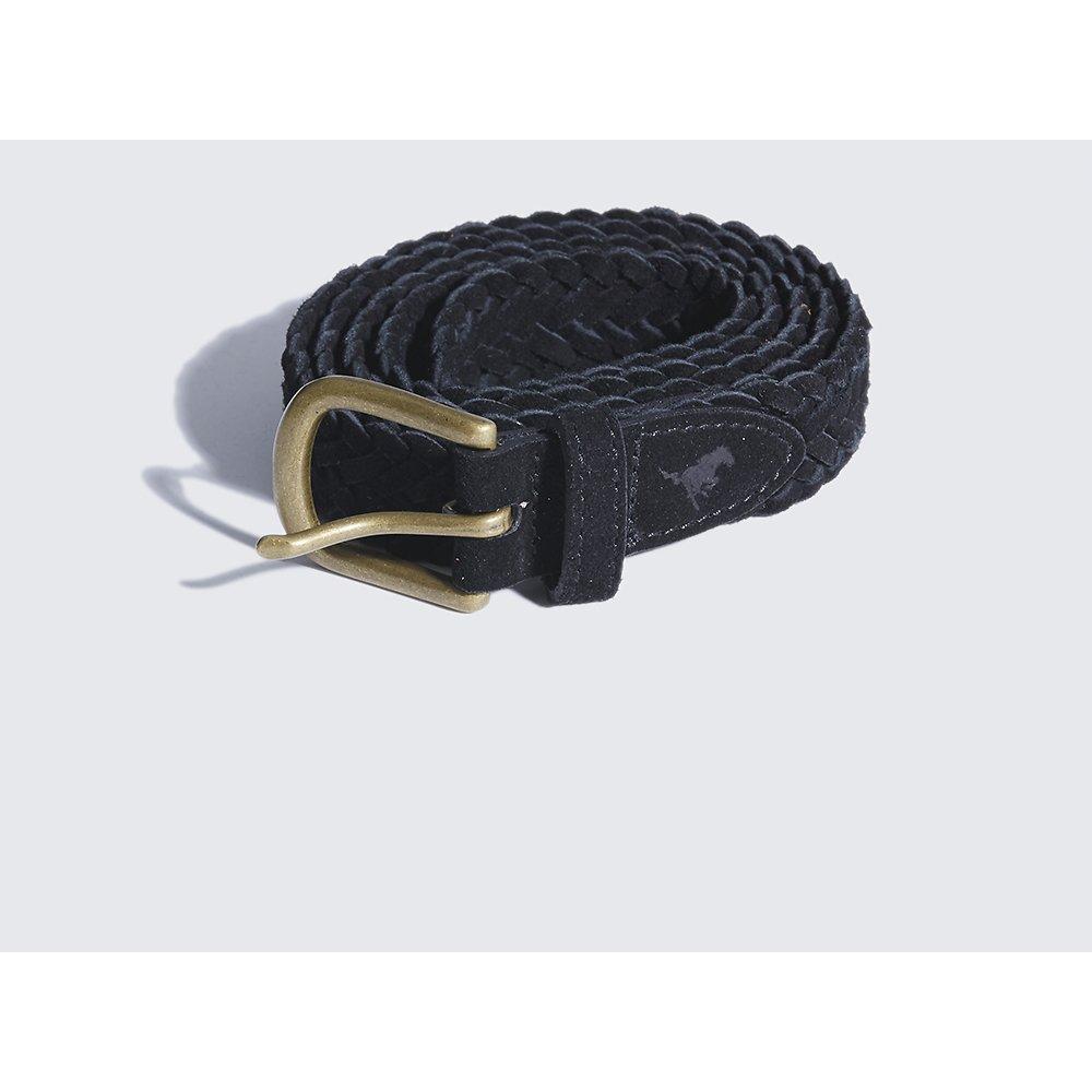 Image of Wrangler Black Slim Plait Belt Black