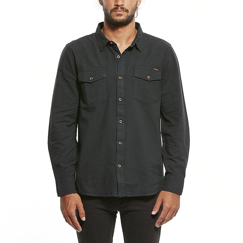 dc9ad0e8b23b6 Image of Wrangler Vintage Black Platoon Shirt Vintage Black