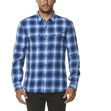 Image of Wrangler Blue Shadows Johnston St Shirt Blue Shadows