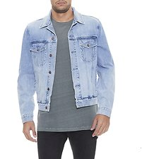 Image of Wrangler Stone Denim Trucker Jacket Stone Haze