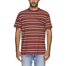 Image of Wrangler Red Stripe Holloway Tee Red Stripe