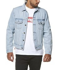 Image of Wrangler Light Wash Out Of Sands Trucker Light Wash
