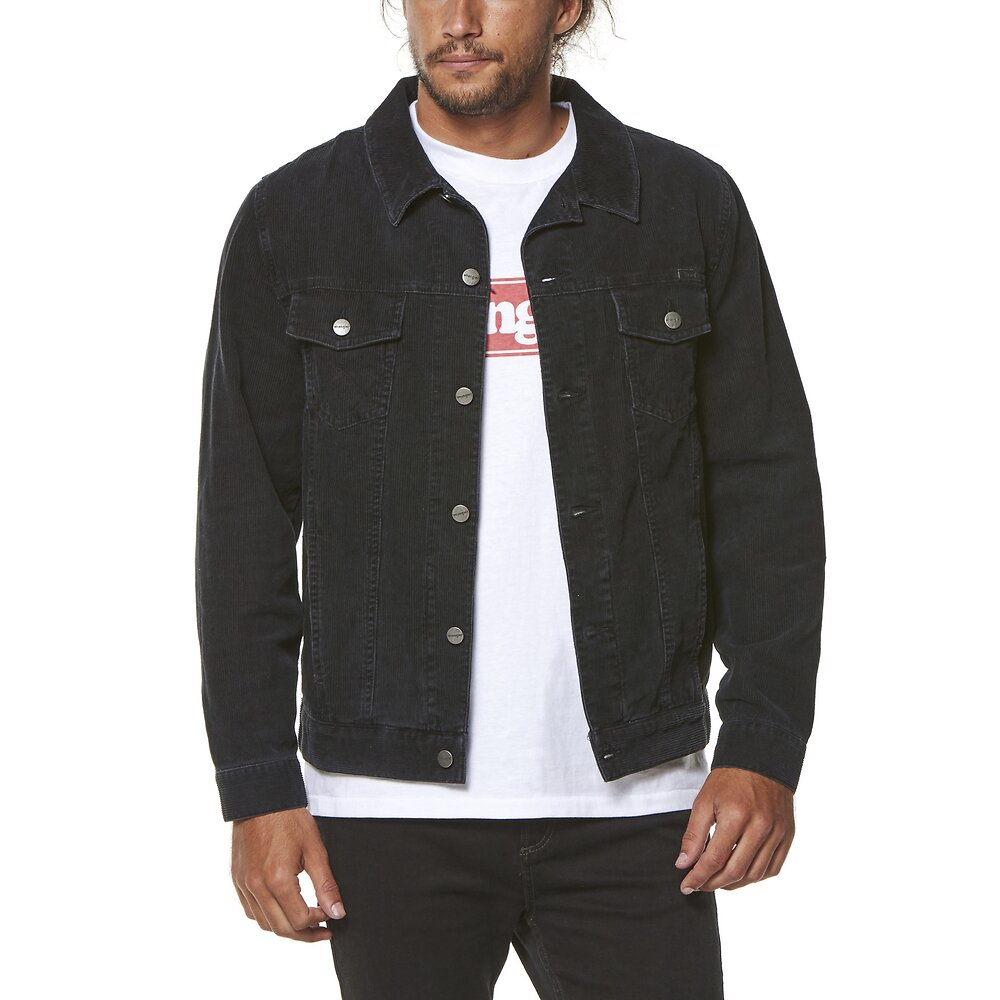 Image of Wrangler Worn Black Parallels Trucker Worn Black