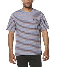 Image of Wrangler Blue/Red Stripe Vedder Tee Blue/Red Stripe