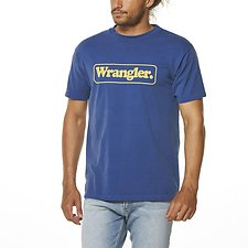 Image of Wrangler Coast Blue Notes Tee Coast Blue