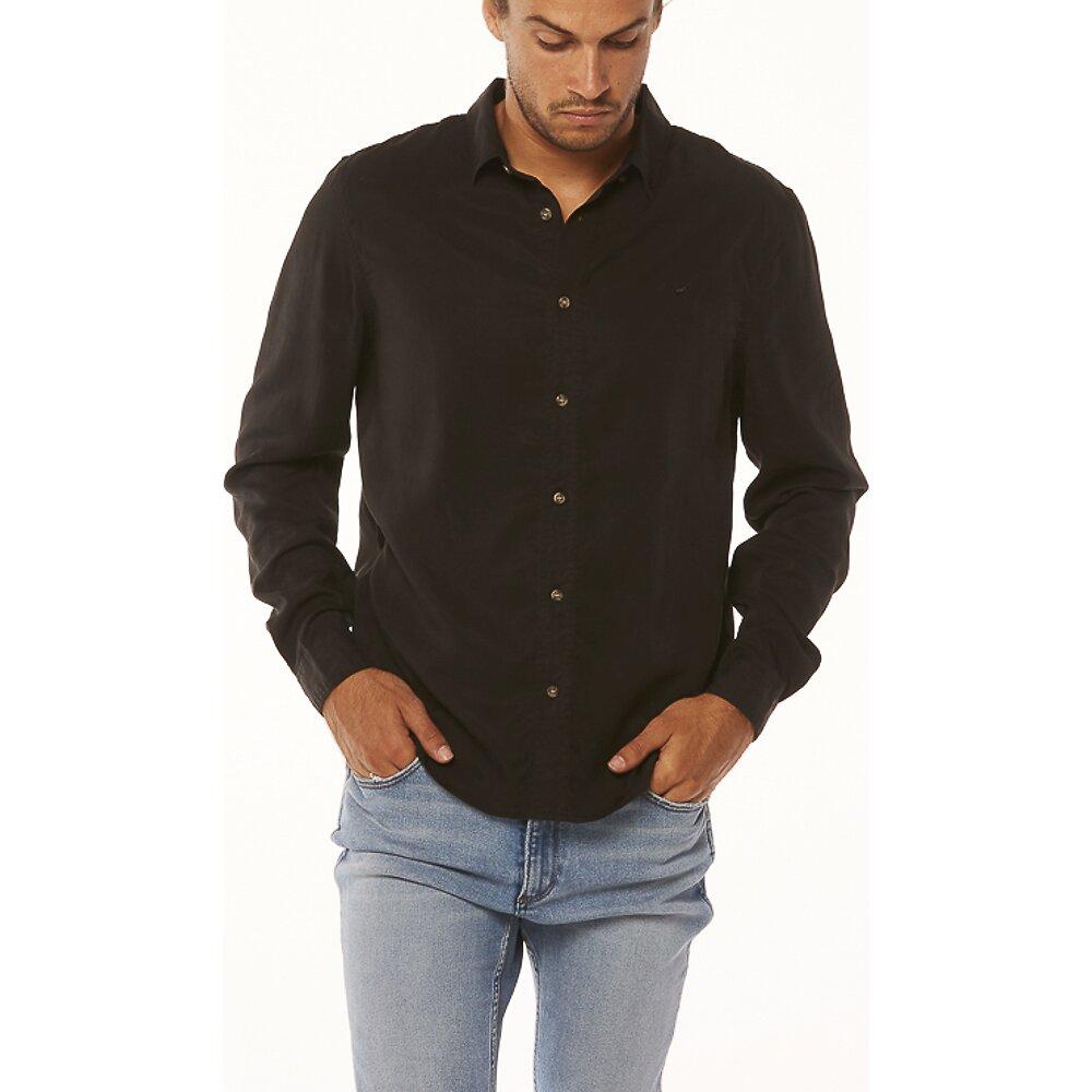 Image of Wrangler Washed Black Doing It Clean Shirt Washed Black