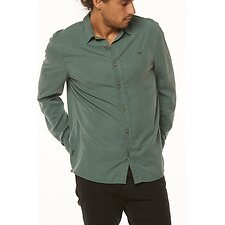 Image of Wrangler Washed Green Doing It Clean Shirt Washed Green