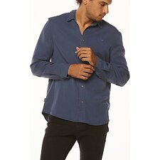 Image of Wrangler Navy Doing It Clean Shirt Navy