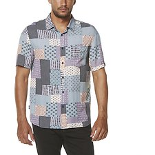 Image of Wrangler Abstract Print Garageland Shirt Abstract Print