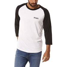 Image of Wrangler White/Black Notes Raglan White/Black