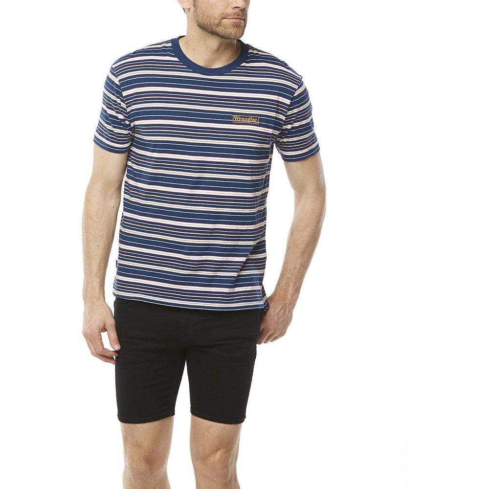 Image of Wrangler Blue Stripe Vedder Tee Blue Stripe