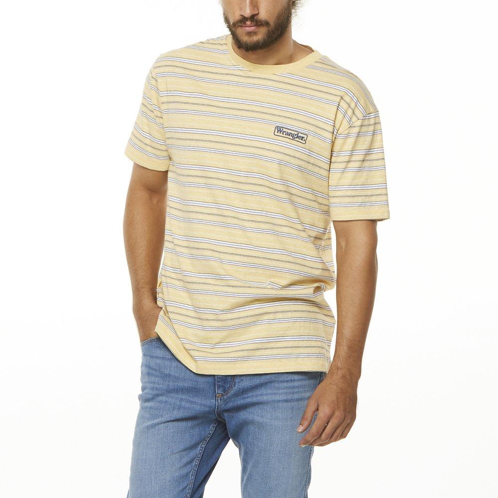 Image of Wrangler Yellow Stripe Vedder Tee Yellow Stripe