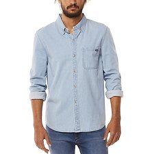 Image of Wrangler Waves Blue Gulls LS Shirt Waves Blue