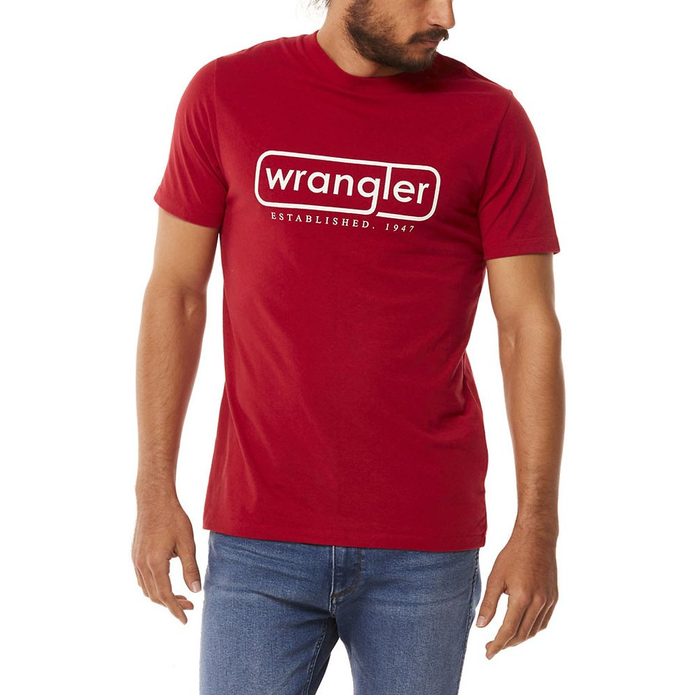 Image of Wrangler Worn Red Oxley Tee Worn Red