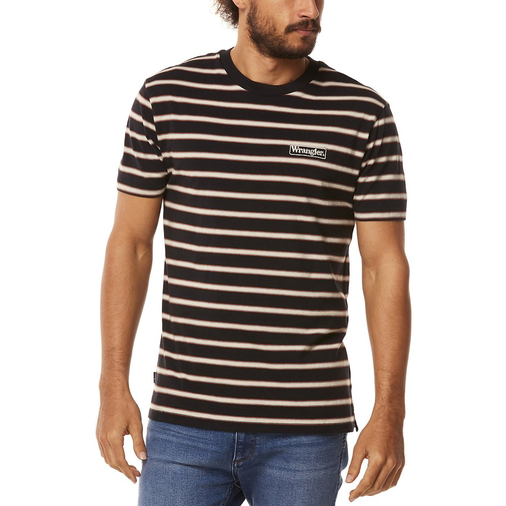 Image of Wrangler Black Stripe Vedder Tee Black Stripe