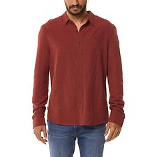 Image of Wrangler Washed Brick Doing It Clean Shirt Washed Brick