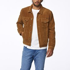 Image of Wrangler Tan Cord Parallels Trucker Tan Cord