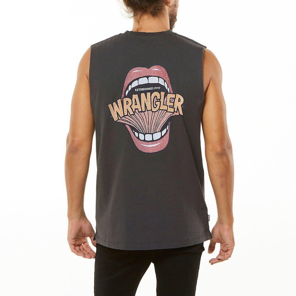 Image of Wrangler Washed Black Shout Out Muscle Vintage Black