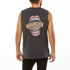 Image of Wrangler Washed Black Shout Out Muscle Vintage Black