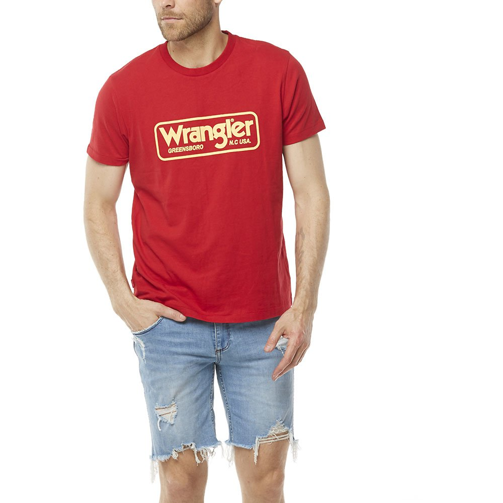Image of Wrangler Worn Red Archive Tee Worn Red