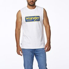 Image of Wrangler White Archive Muscle White
