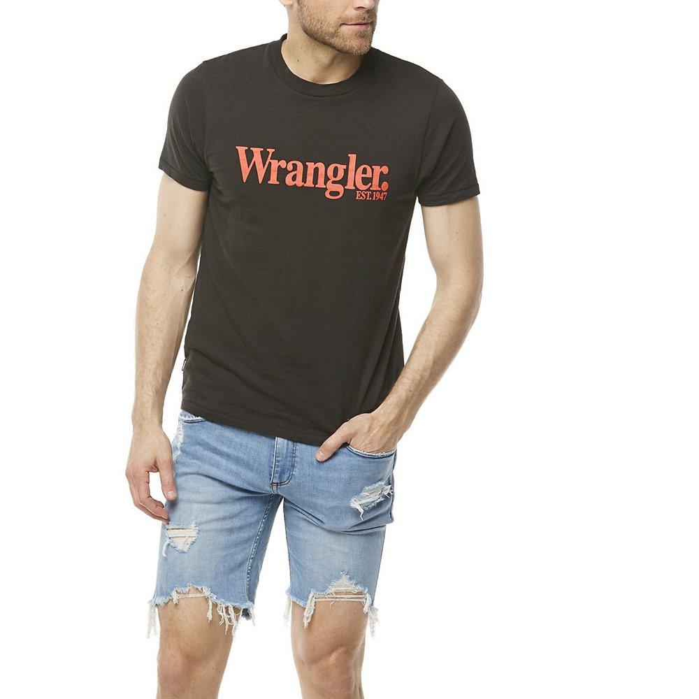 Image of Wrangler Vintage Black Lights Logo Tee Vintage Black