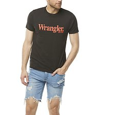 Image of Wrangler Vintage Black Lights Logo Tee Vintage Black