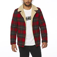 Image of Wrangler Red Check Cabin Jacket Red Check