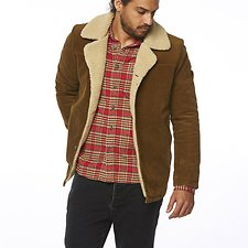 Image of Wrangler Tan Cord Bakers Coat Tan Cord