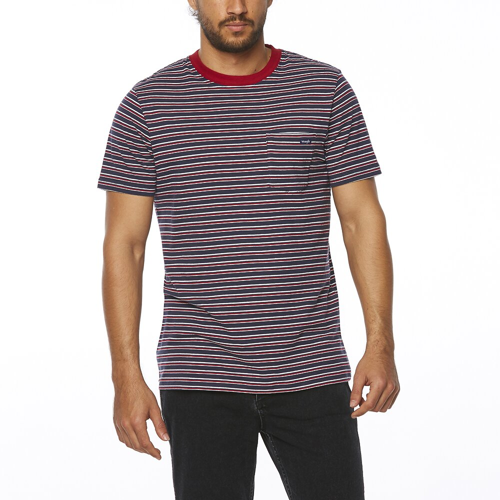 Image of Wrangler Navy/red Every Street Tee Navy/Red