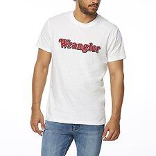 Image of Wrangler White Ziggy Tee White
