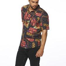 Image of Wrangler Patchwork Floral Garageland Shirt Patchwork Floral