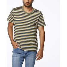 Image of Wrangler Whiskey Stripe Halls Tee Whiskey Stripe