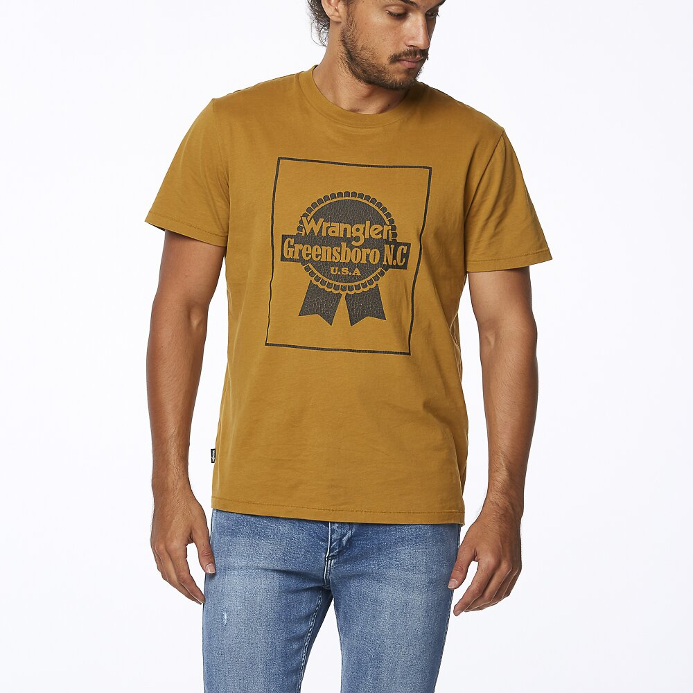 Image of Wrangler Old Gold Off The Track Tee Old Gold