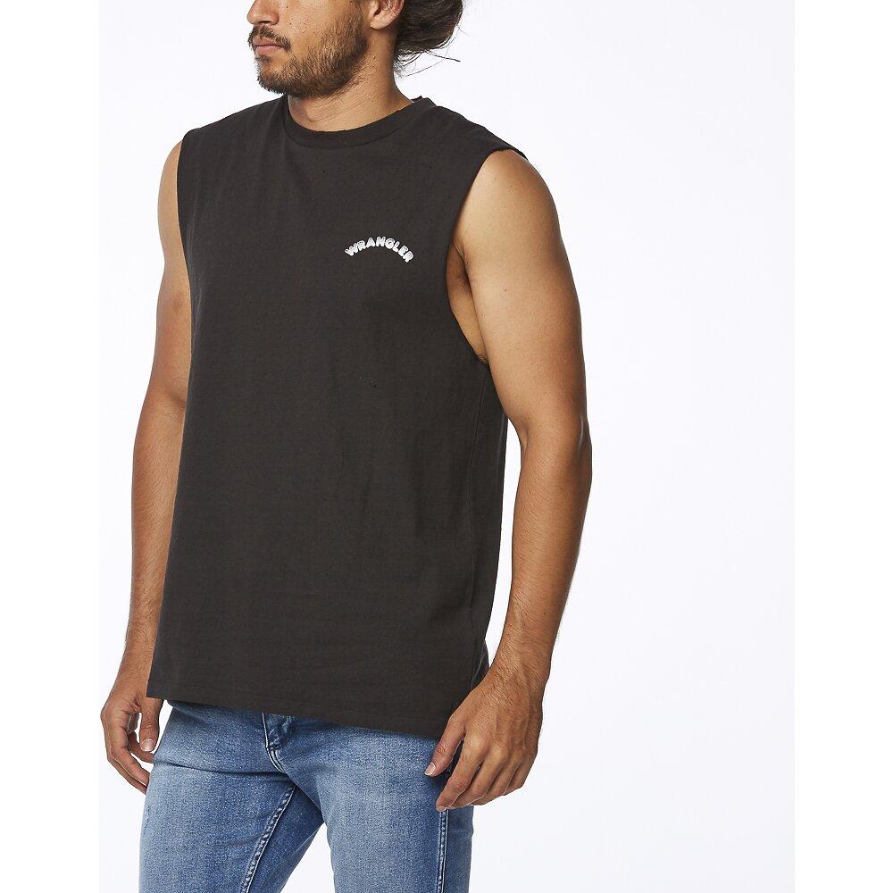 Image of Wrangler Worn Black Night Drives Muscle Worn Black