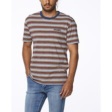 Image of Wrangler Sand & Sea Stripe Vedder Tee Sand & Sea Stripe