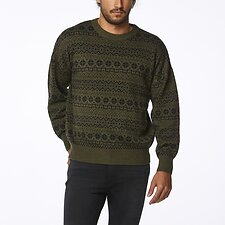 Image of Wrangler Olive Black Soundtrack Sweater Olive Black