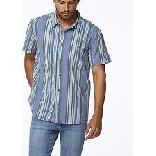 Image of Wrangler Blue Green Stripe Slater Shirt Blue Green Stripe
