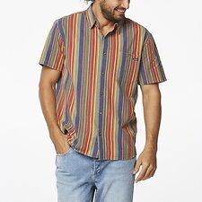 Image of Wrangler Festival Stripe Slater Shirt Festival Stripe