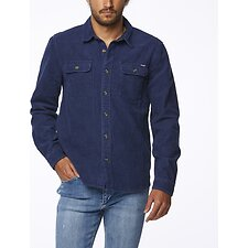 Image of Wrangler Navy Parallels Shirt Washed Navy