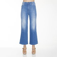 Picture of Hi Bells Cropped Jean Day Dream Blue