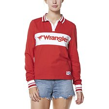 Image of Wrangler Red Jeans Team Polo Red