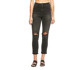 Picture of Hi Peggy Cropped Jean Rock Roll Black