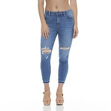 Picture of Mid Pins Cropped Jean Milla Blue