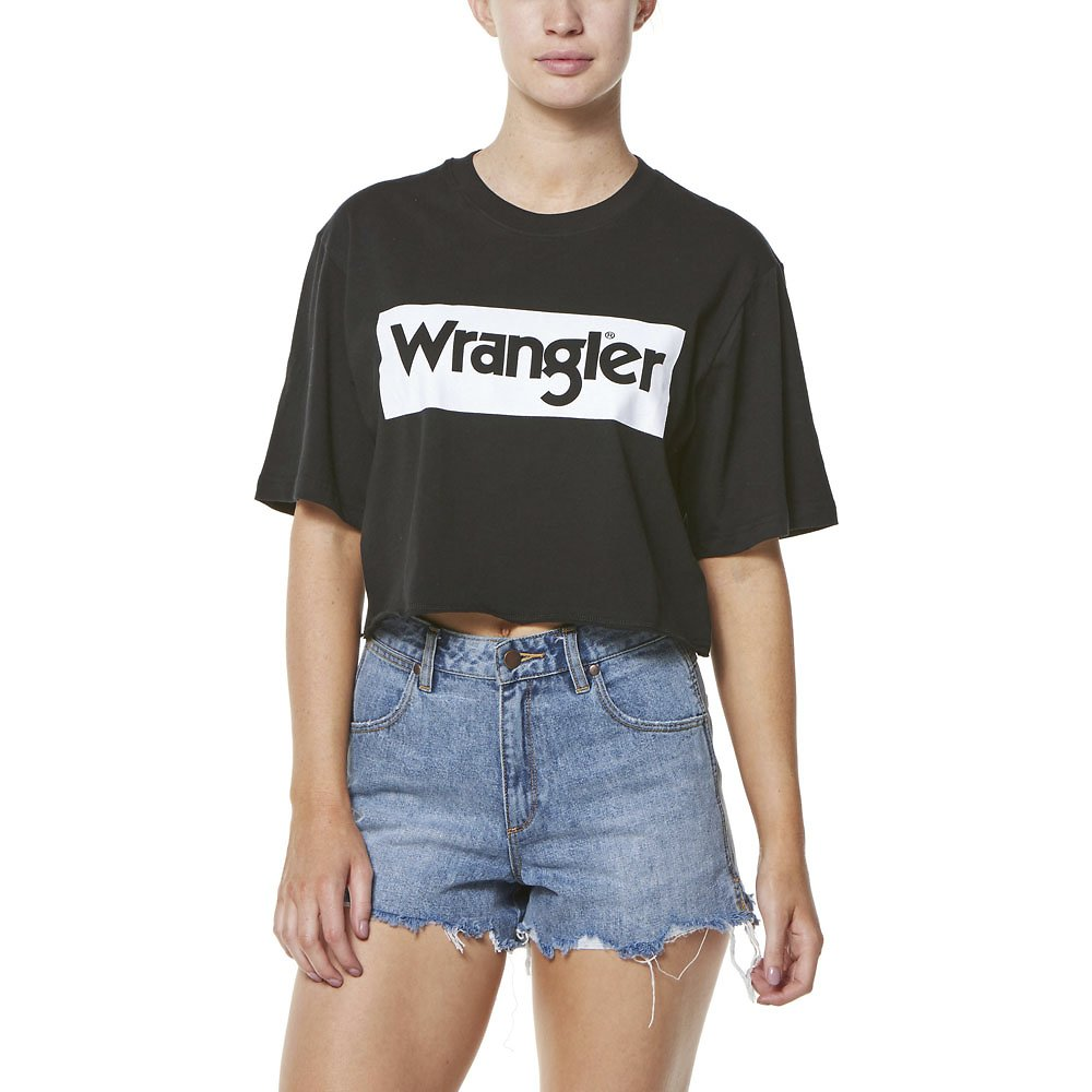 edc604f901f1 Image of Wrangler Black/white Boyfriend Crop Tee Black/White