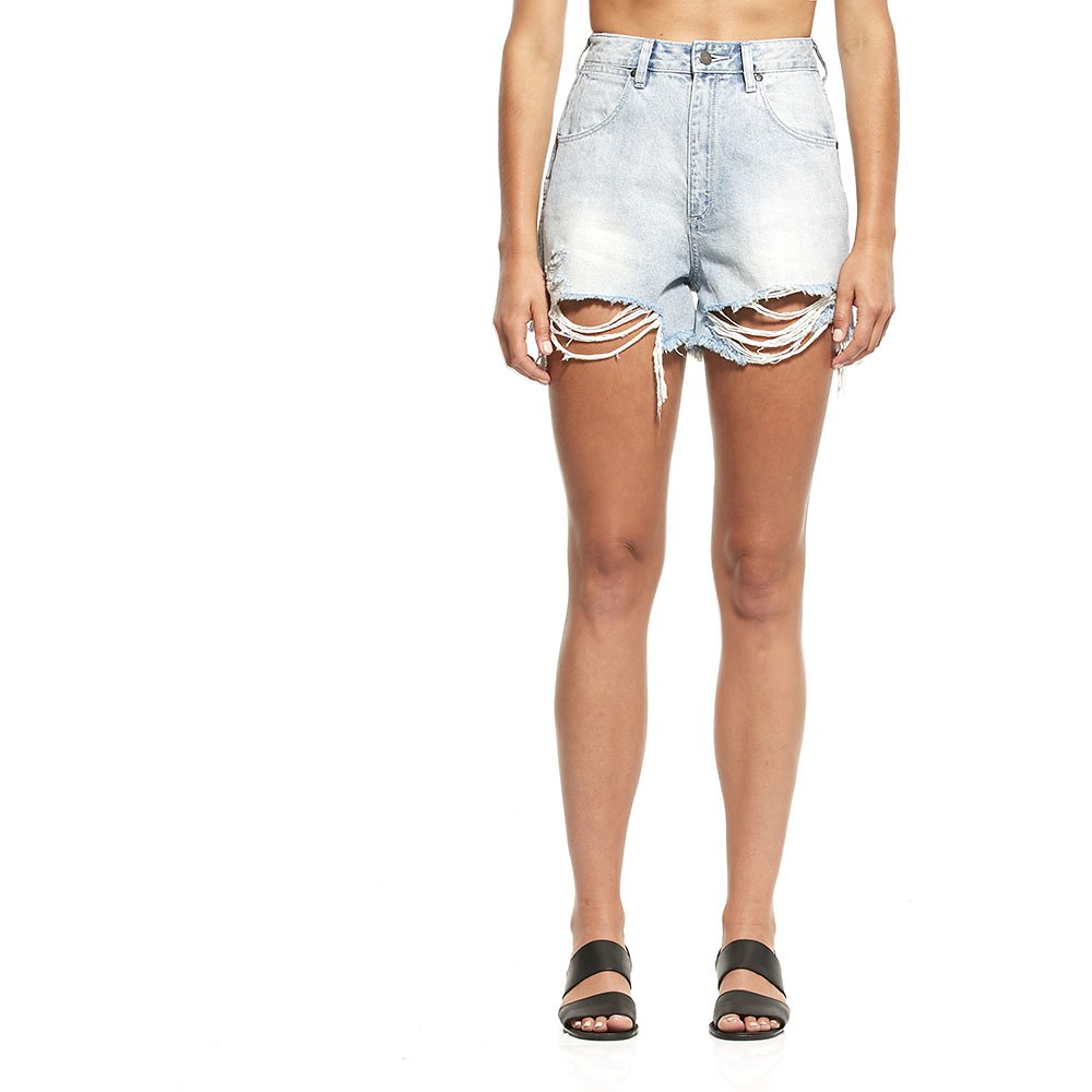 Image of Wrangler Mojave Bleach Blues Hi Bells Short Mojave Bleach