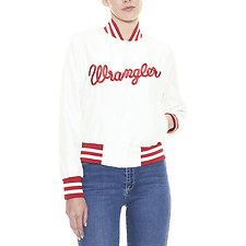 Picture of Satin Bomber White/Red