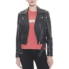 Image of Wrangler Sonic Black Sonic Leather Jacket Sonic Black