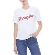Image of Wrangler White/Red Vintage Logo Tee White/Red